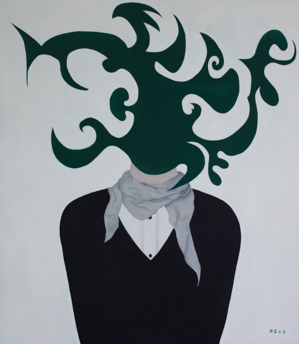 Auto portrait. Huile sur toile. 70 x 80. 2012