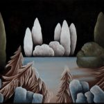 Etang gelé. 30 x 40. 2006
