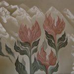 Grandes fleurs sur les monts. 75 x 69. 2005