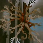 L'arbre éclaté. 54 x 65. 1997