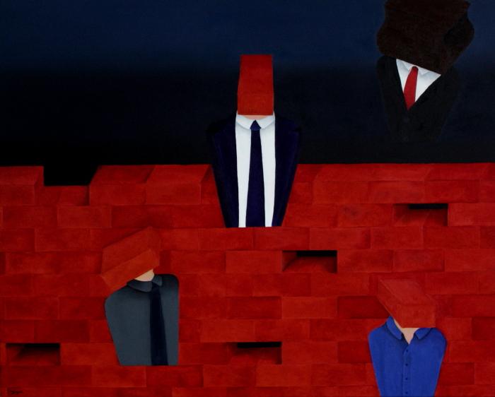 Le mur. Huile sur toile. 80 x 100. 2011