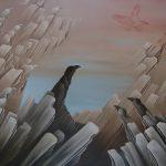 Le vol de l aigle. 100 x 80. 1997