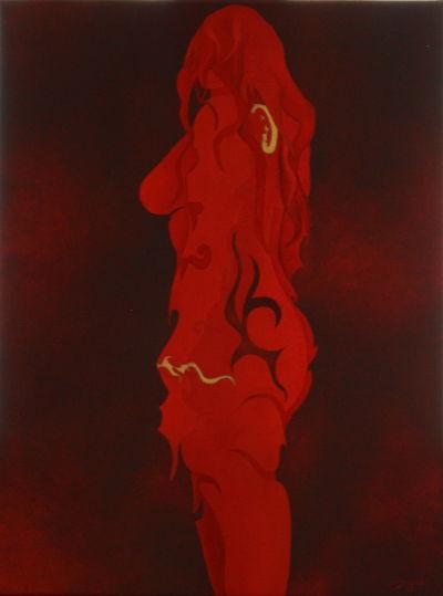 Nuances de rouge 2. 40x30.2014