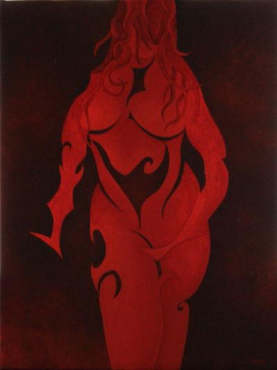Nuances de rouge. 40x30.2014