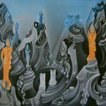 Variations sur un theme de bougies. 76 x 56. 1977