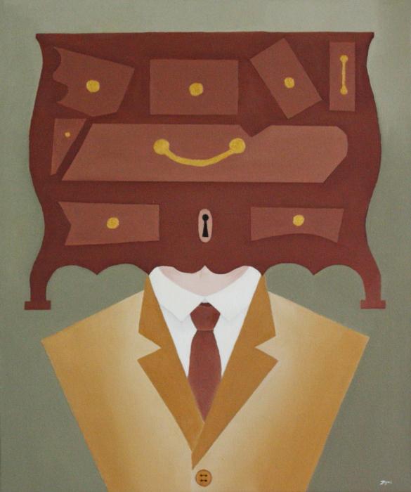 Visages du monde. La logique. Huile sur toile. 60 x 50. 2010