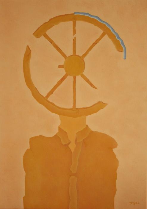 Visages du monde. La roue. 50 x 70. 2013