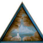 triangle de glace. 42 x 42 x 42. 2000